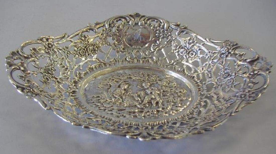 Shreve & Co. Sterling Bowl with Courting Couple Scene