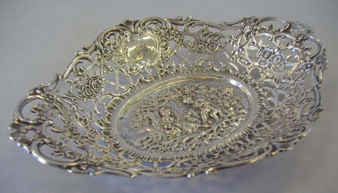 Shreve & Co. Sterling Bowl with Courting Couple Scene - 2