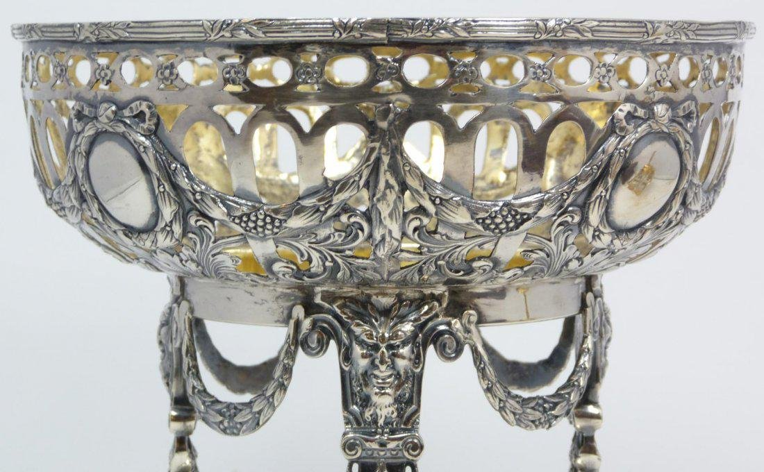 Antique Russian silver fully reticulated compote - 2