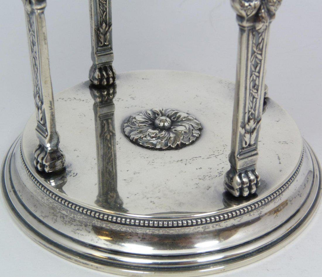 Antique Russian silver fully reticulated compote - 3