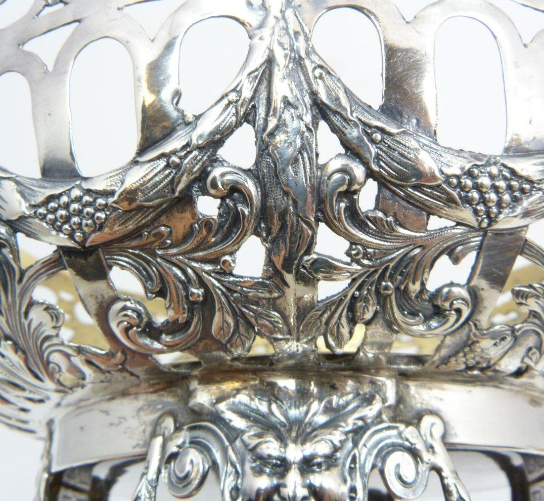 Antique Russian silver fully reticulated compote - 6