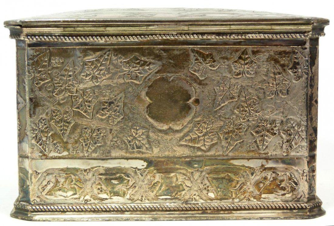 Antique English Silver Plate Tea Leaves Caddy - 6