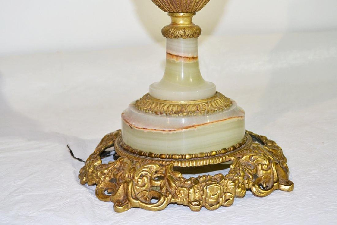 """ONYX URN FORM LAMP WITH DORE BRONZE MOUNTS - 21"""" - 4"""