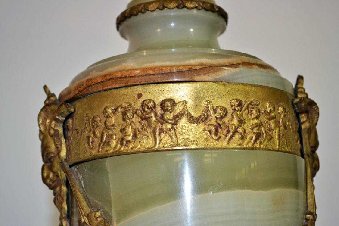 """ONYX URN FORM LAMP WITH DORE BRONZE MOUNTS - 21"""" - 5"""