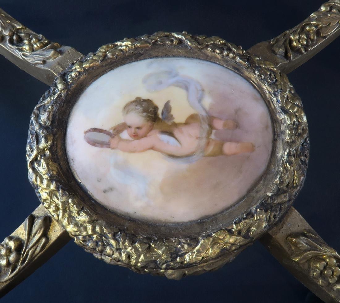 Royal Vienna Gilt wood & Porcelain Side Table - 5