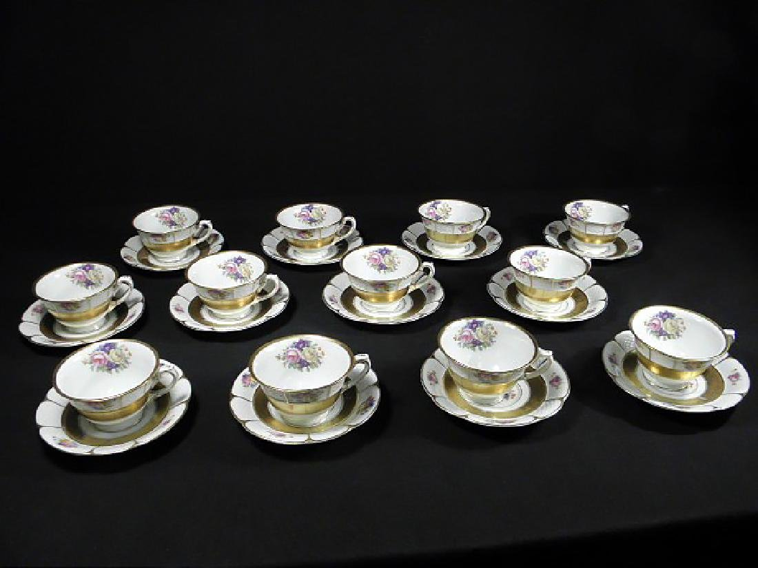 Rosenthal Bavarian porcelain cups and saucers set