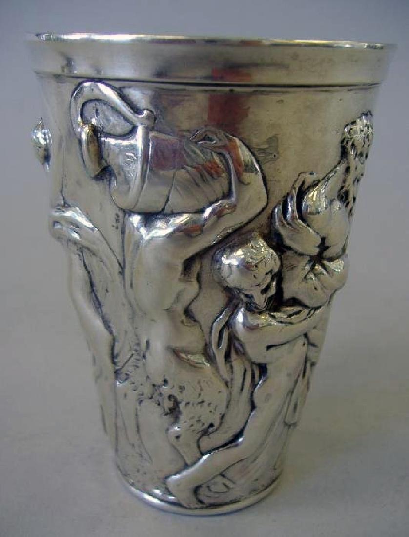 "German silver beaker, ""Hanau"" hallmarks signed - 2"