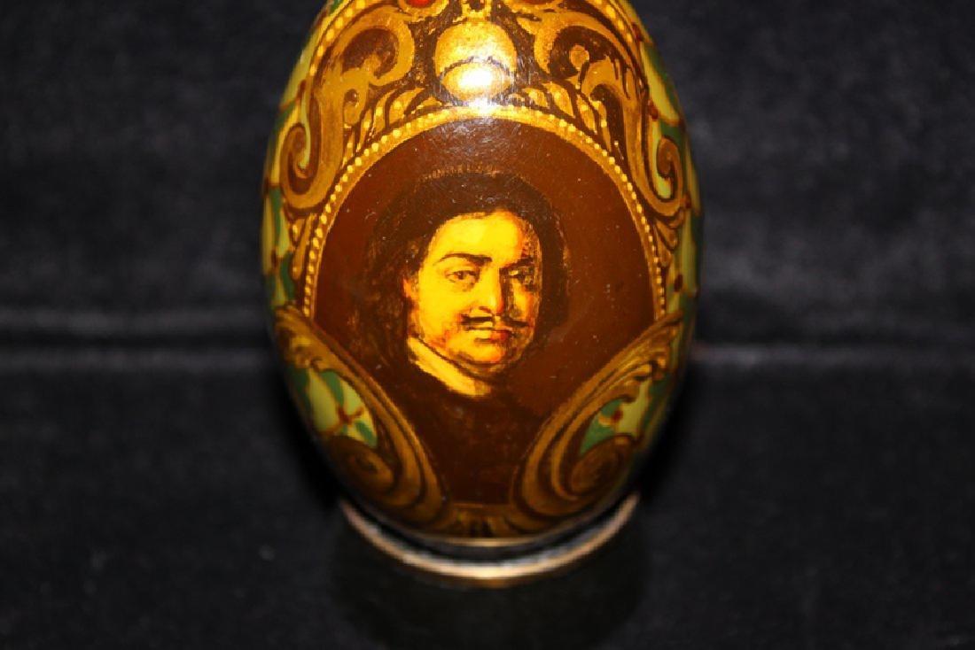 Enameled egg with Portrait - 2