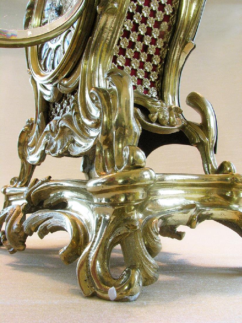 19th C. French Polished Bronze Rococo Mental Clock - 8