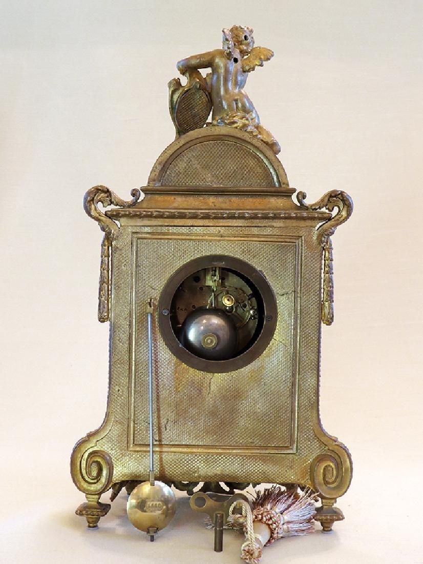 19th C. Sevres Porcelain and Dore' Garniture Clock Set - 6
