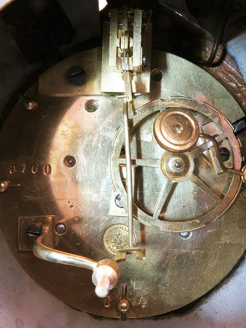 19th C. Sevres Porcelain and Dore' Garniture Clock Set - 7