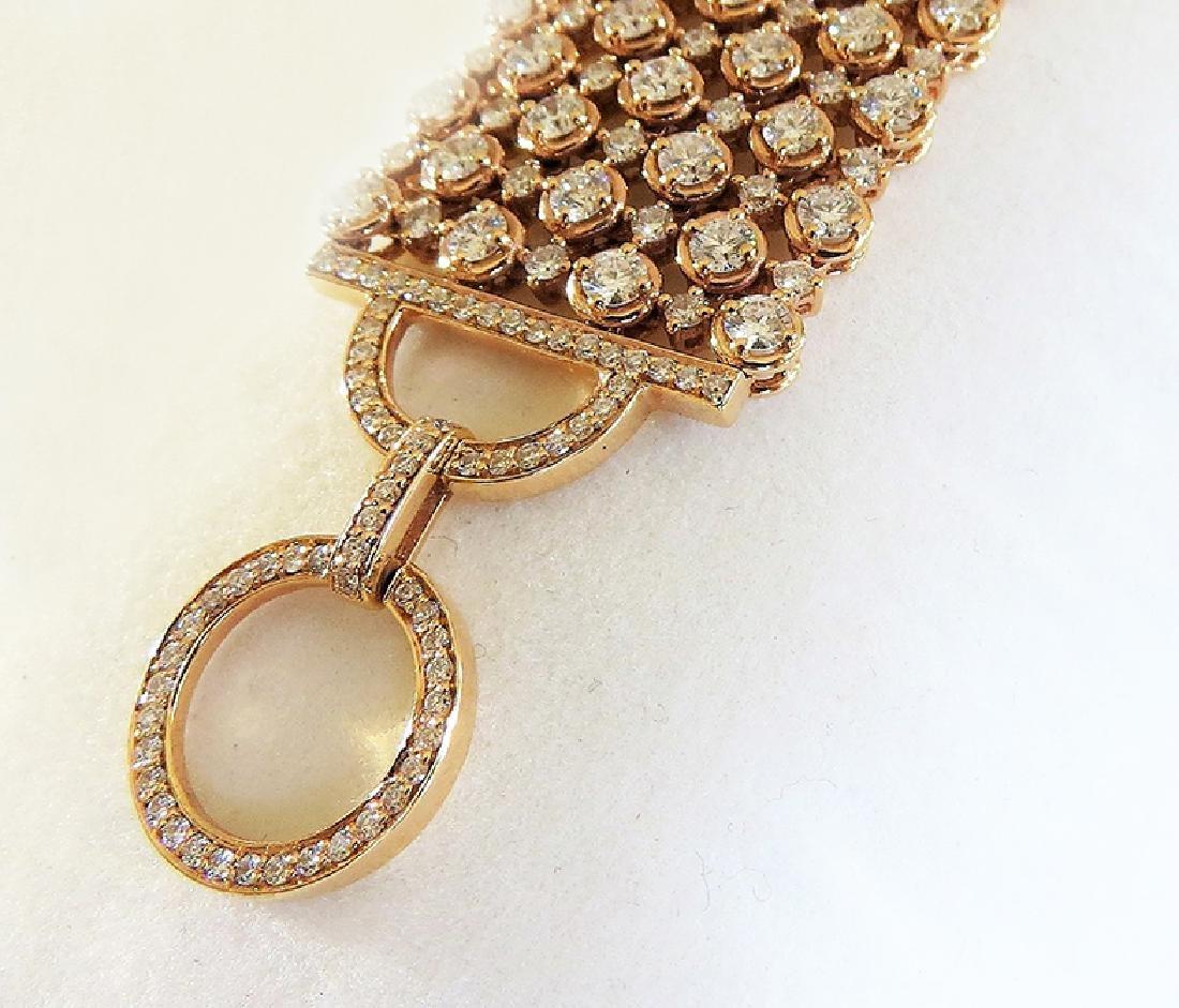 Exquisite 18K Rose Gold and Diamond Bracelet - 5