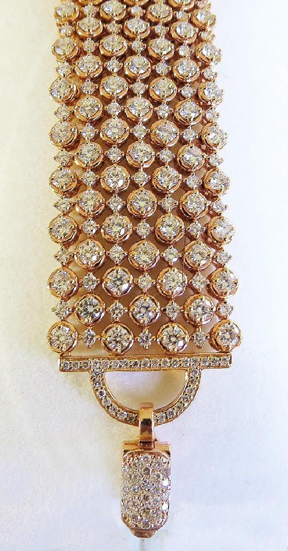 Exquisite 18K Rose Gold and Diamond Bracelet - 6
