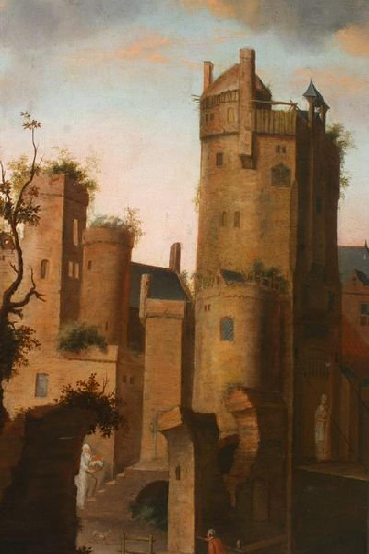 18th C. Dutch, Old Castle by the River, o/c - 2