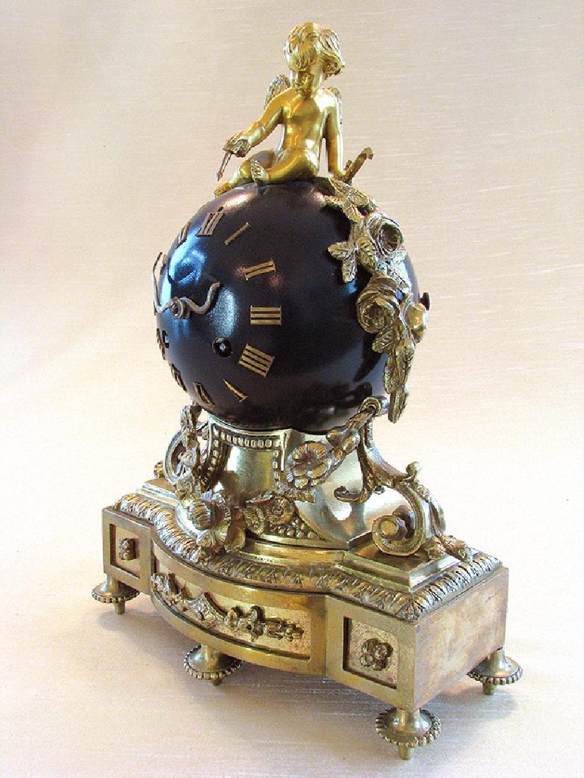 Antique superb 19th C. French bronze Orb Clock - 2
