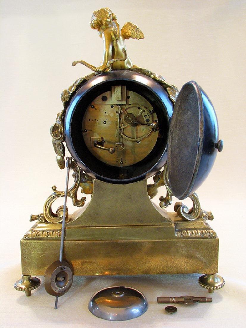 Antique superb 19th C. French bronze Orb Clock - 8