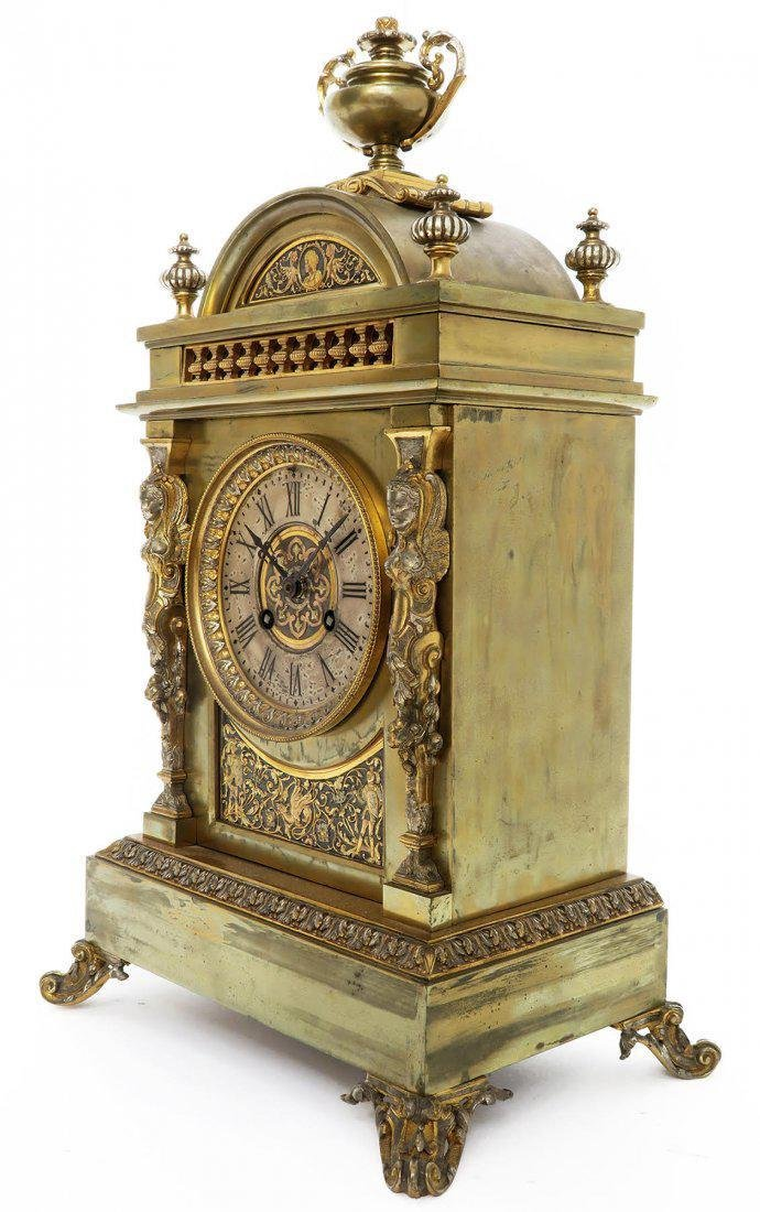 French Bronze Figural Mantle Clock Set - 5