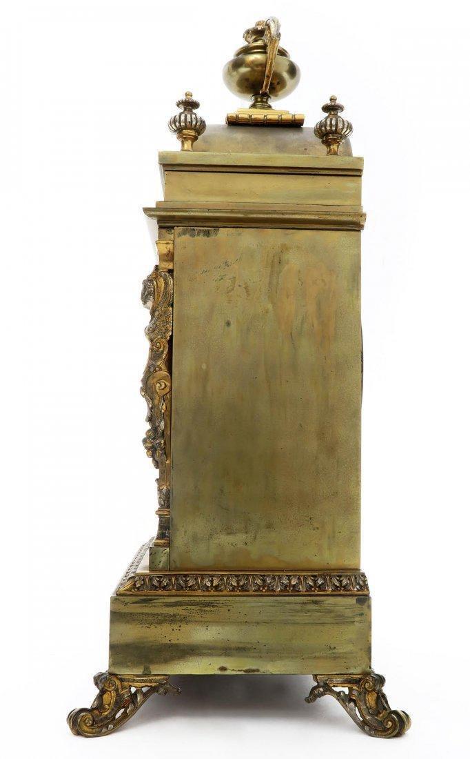 French Bronze Figural Mantle Clock Set - 6