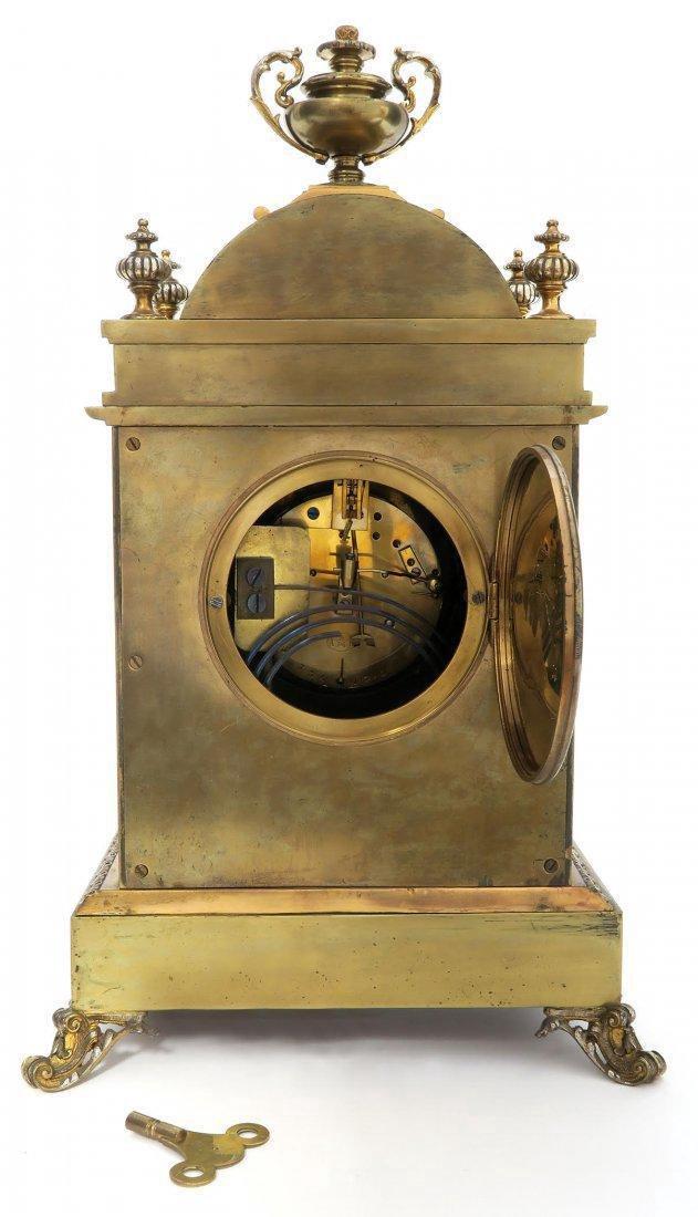 French Bronze Figural Mantle Clock Set - 7