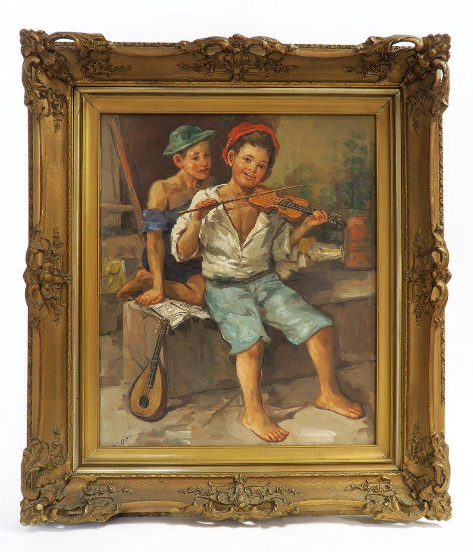 19th C. French Oill on Canvas