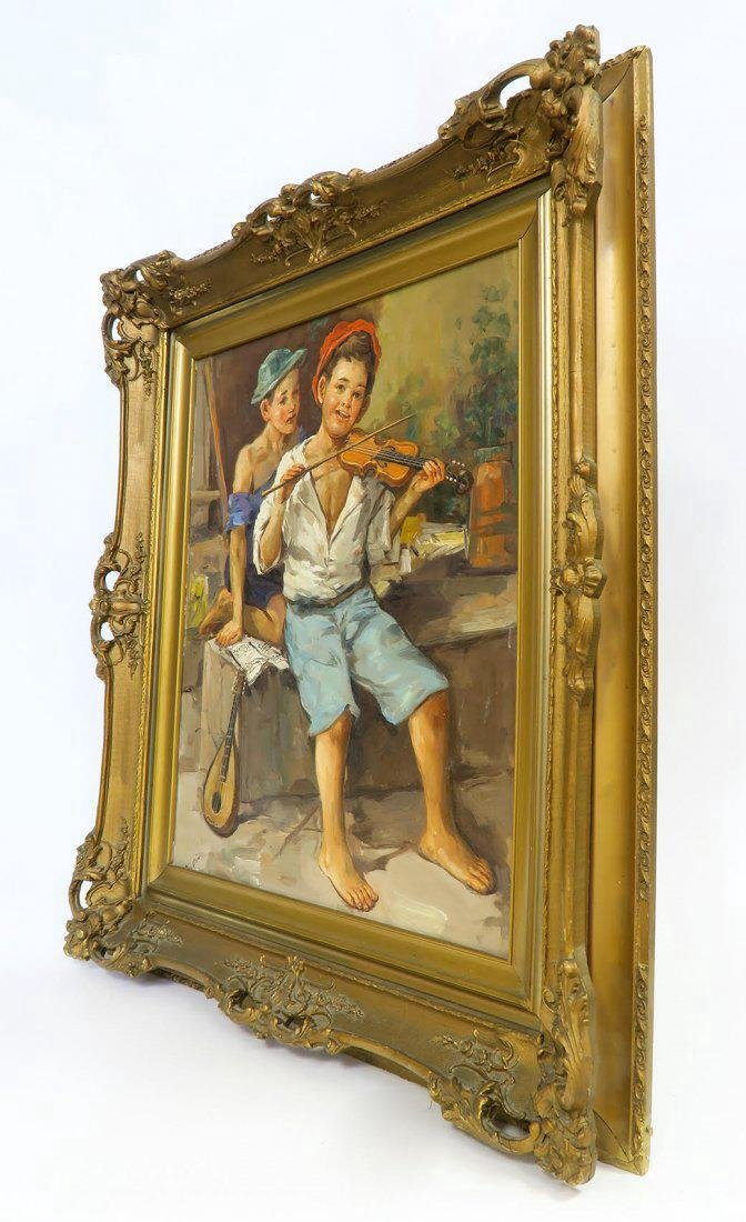 19th C. French Oill on Canvas - 2