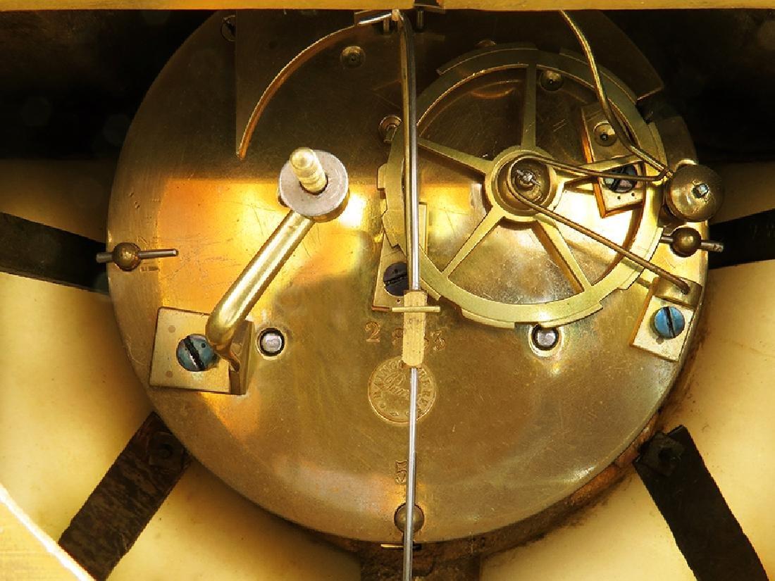 19th C French Gilt Ormolu Mantle Clock by Raingo Freres - 10