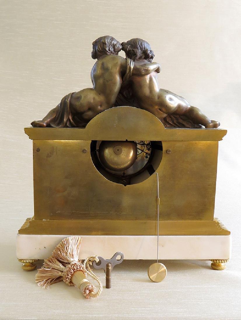 19th C French Gilt Ormolu Mantle Clock by Raingo Freres - 9