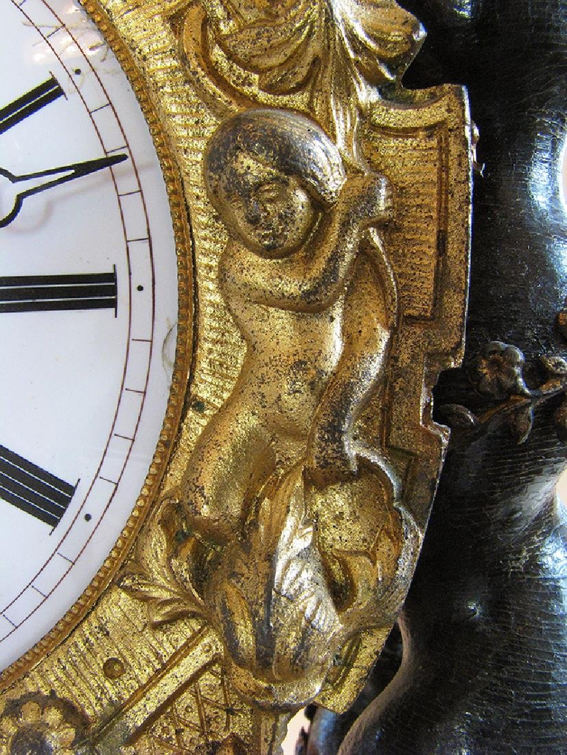 Rare 19th C. Japy French Inlaid Portico Mantel Clock - 6