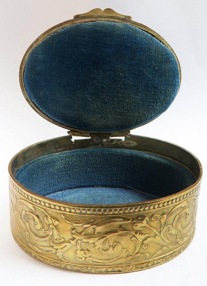 19th C French Bronze Hand Painted Sevres Jewelry Box - 4