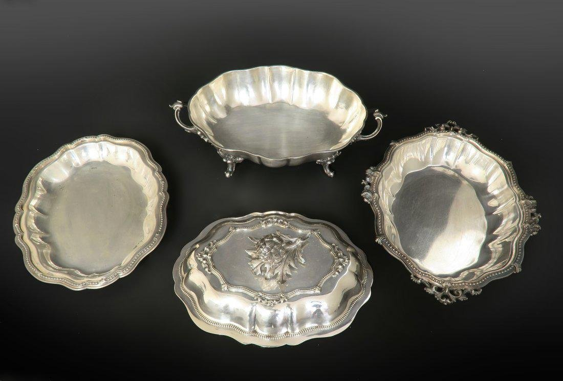 Very Fine Silver Plated 4 piece Warmer / Server Dishes - 2