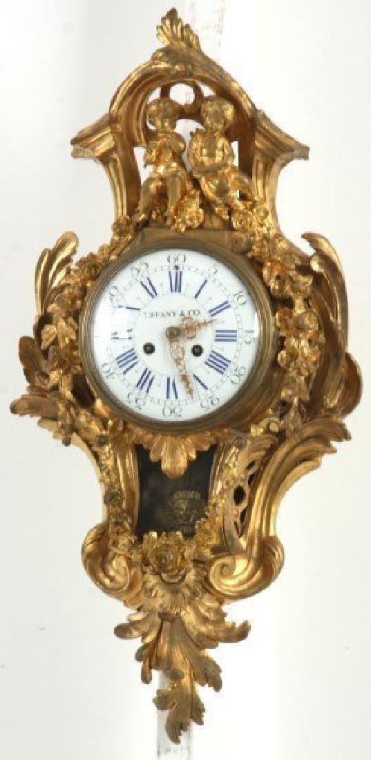 Tiffany & Co. Gilt Bronze Cartel Clock - 2