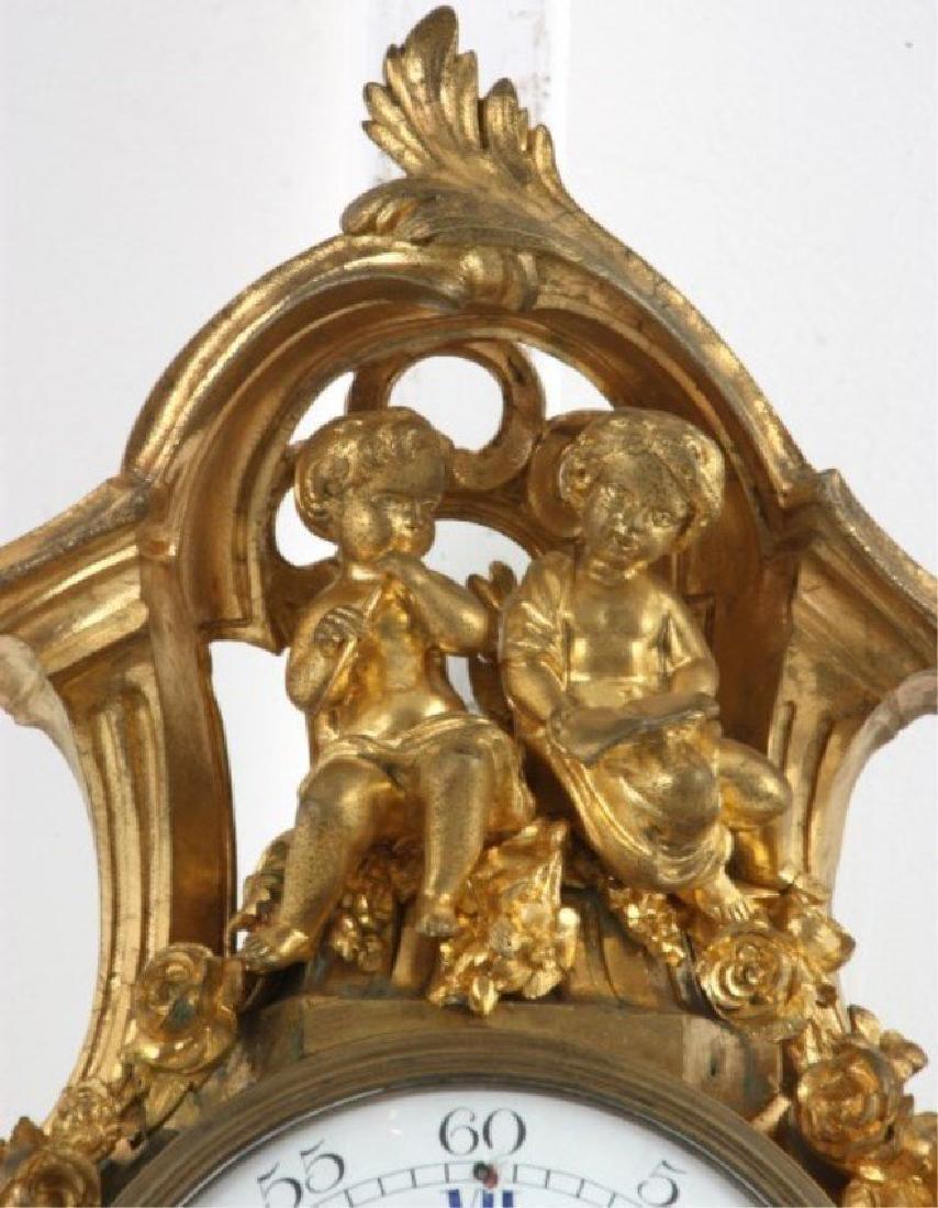 Tiffany & Co. Gilt Bronze Cartel Clock - 3