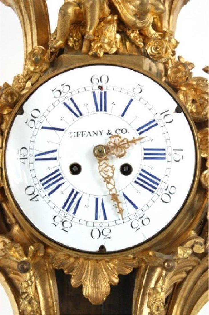 Tiffany & Co. Gilt Bronze Cartel Clock - 4