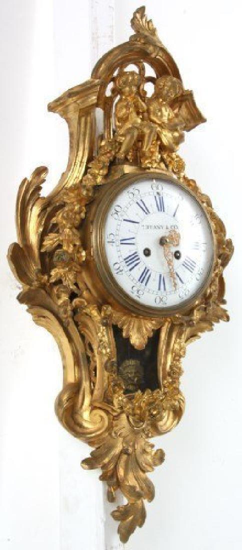 Tiffany & Co. Gilt Bronze Cartel Clock - 5