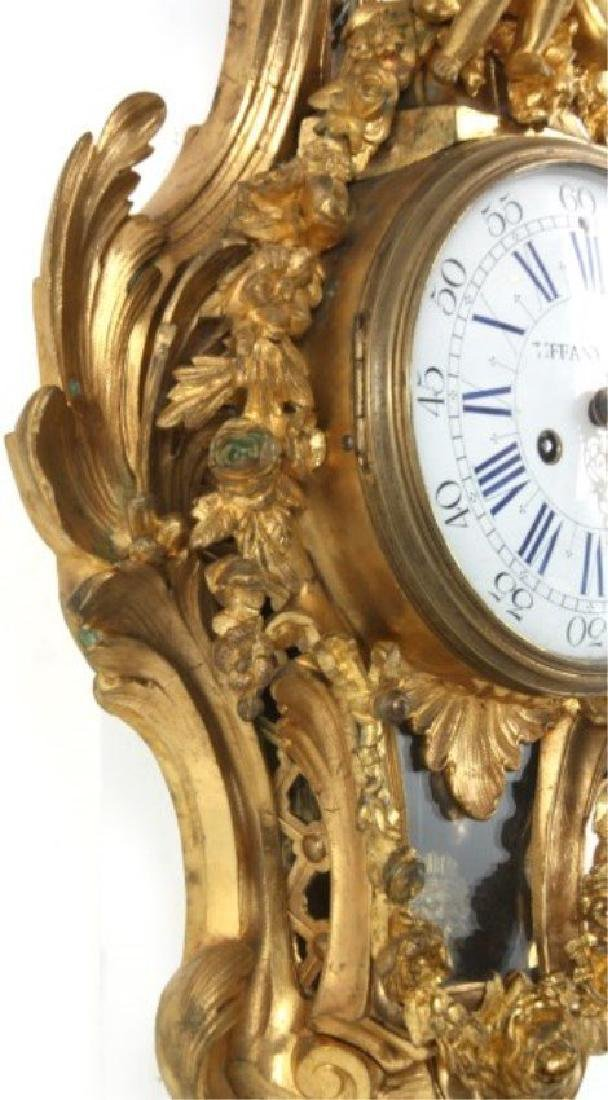 Tiffany & Co. Gilt Bronze Cartel Clock - 6