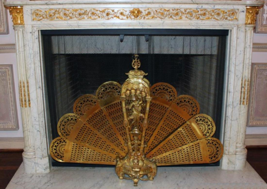 Antique French Folding Fire Screen - 5