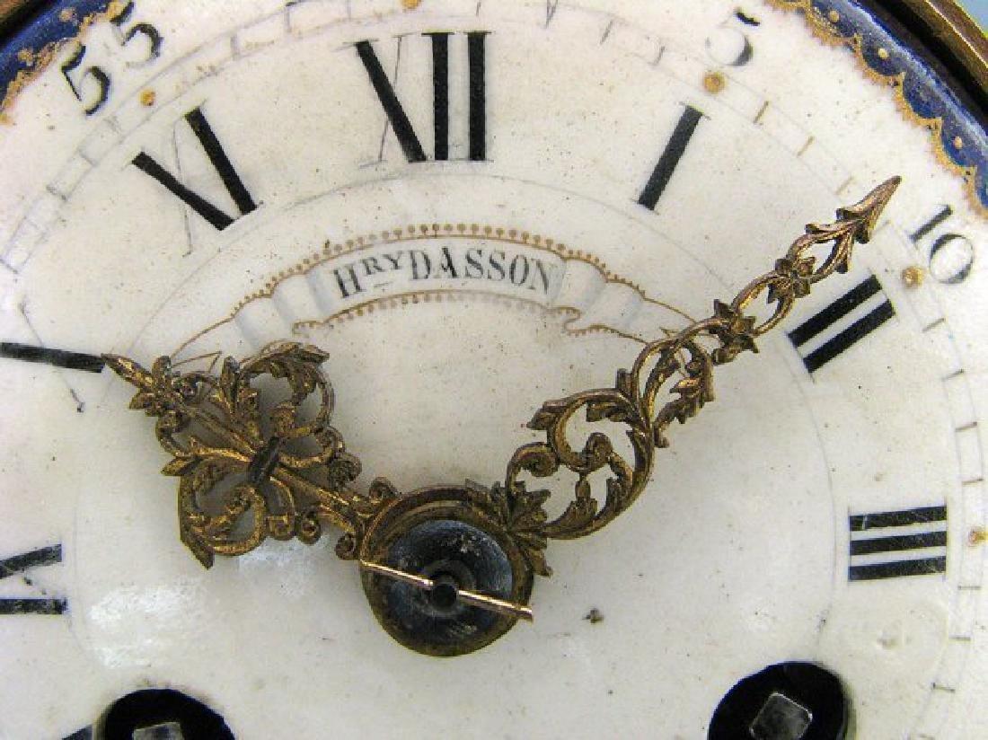 Magnificent Figural Table Clock Signed Henri Dasson - 4