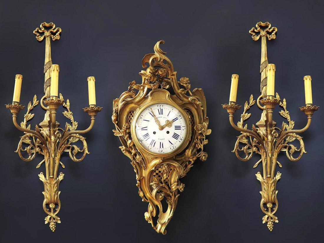 19th C French Cartel Clock & Scones by Raingo