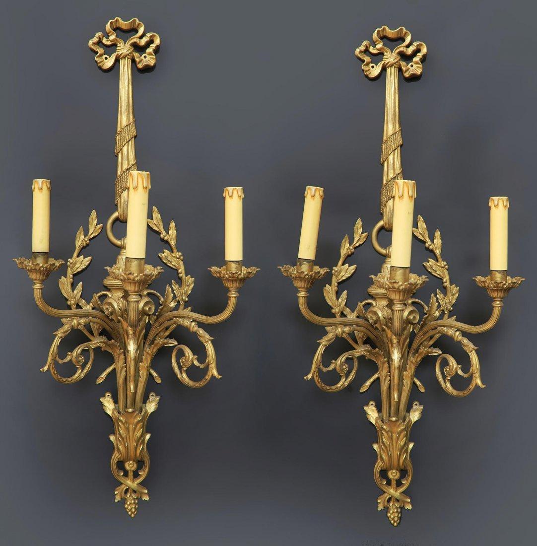 19th C French Cartel Clock & Scones by Raingo - 2