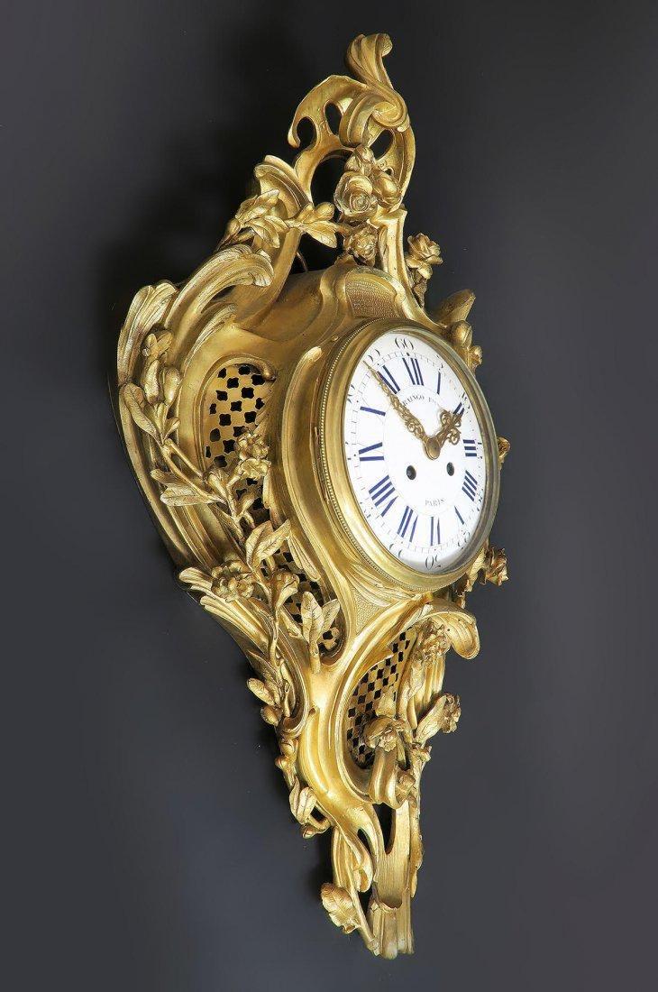 19th C French Cartel Clock & Scones by Raingo - 4