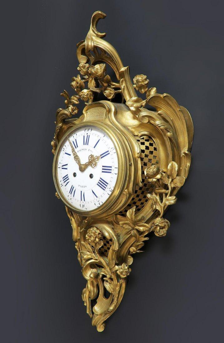 19th C French Cartel Clock & Scones by Raingo - 5