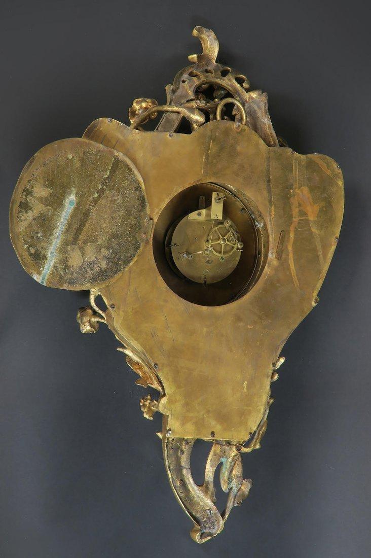 19th C French Cartel Clock & Scones by Raingo - 6