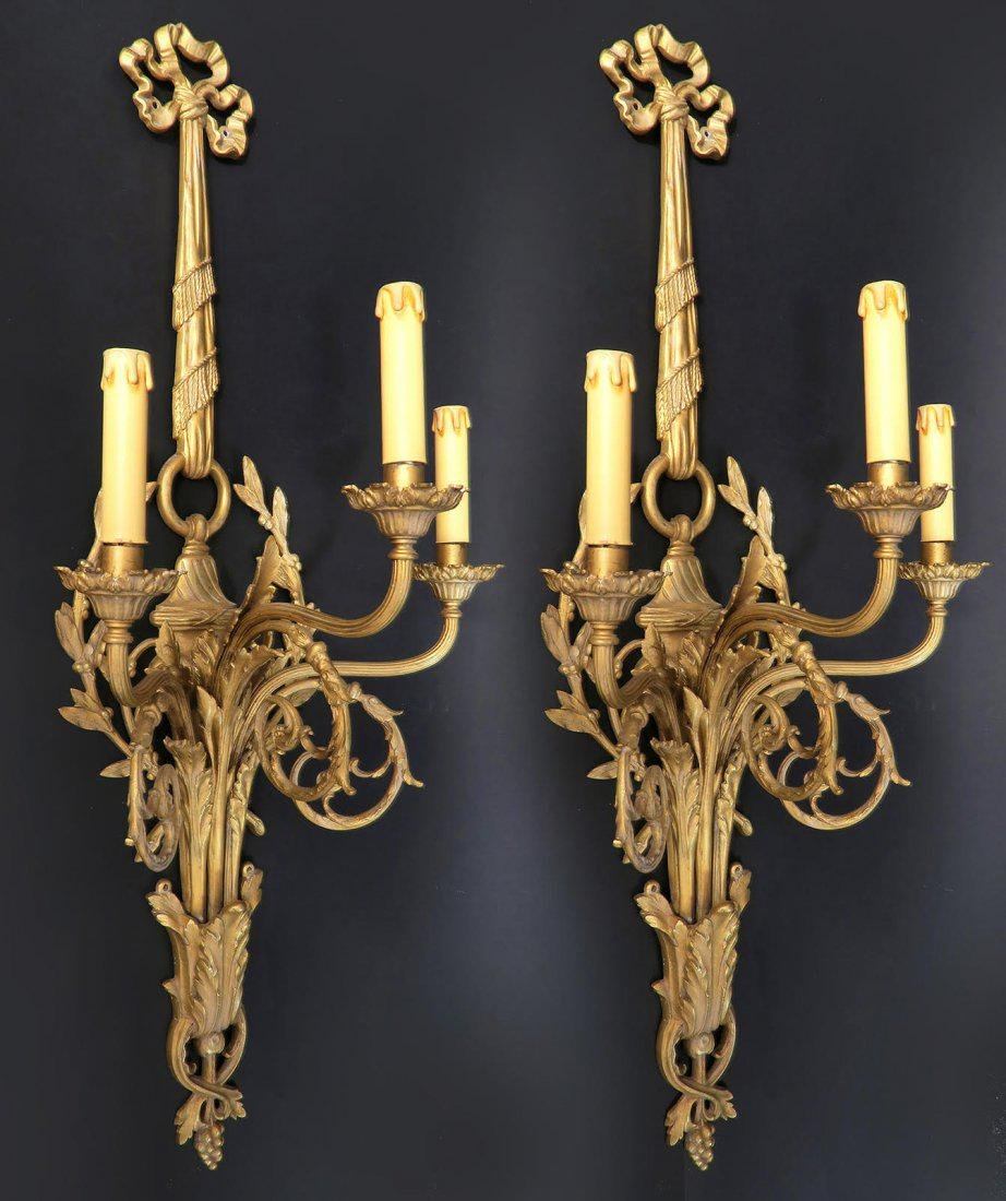 19th C French Cartel Clock & Scones by Raingo - 7