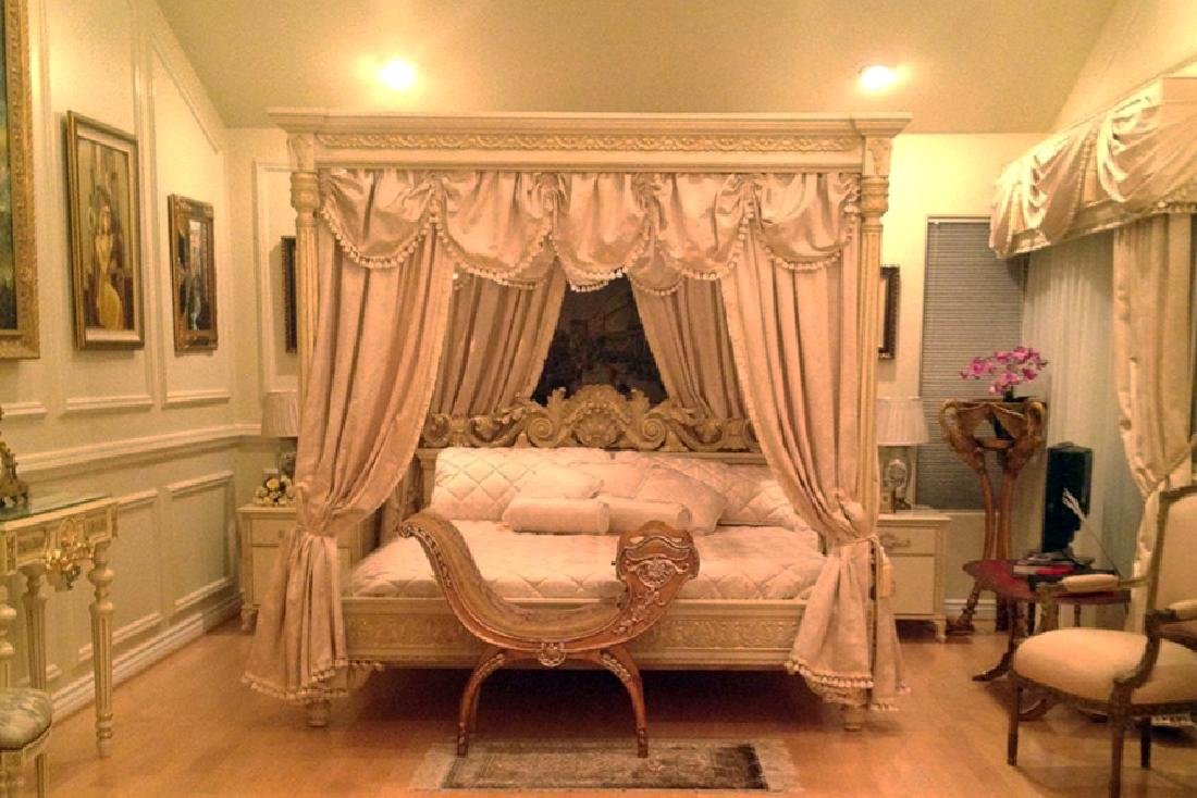 A Hand Carved Bed With 24K Gold Leaf - 10
