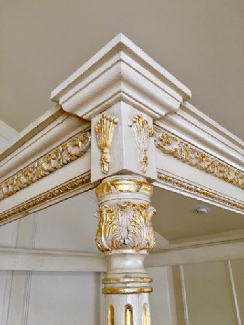 A Hand Carved Bed With 24K Gold Leaf - 6