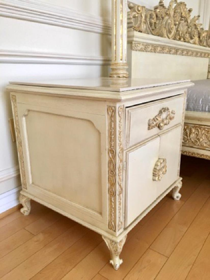 A Hand Carved Bed With 24K Gold Leaf - 8