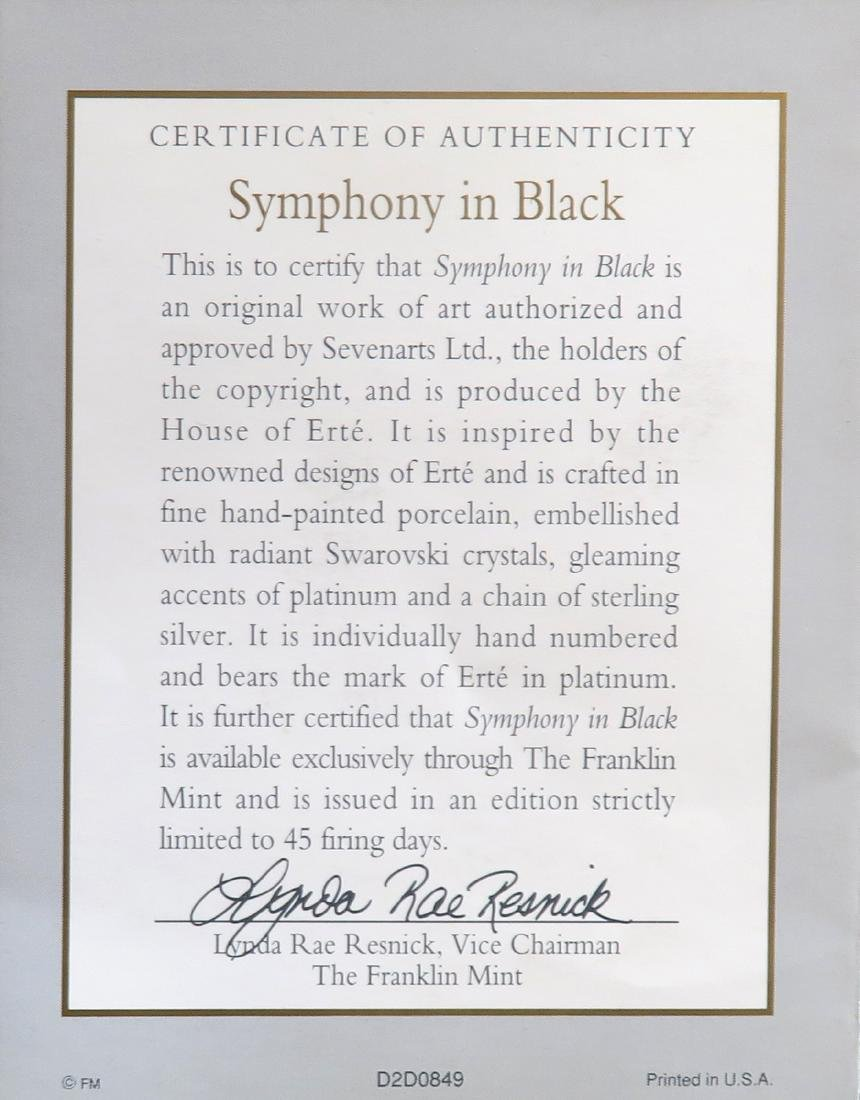 "House of Erte ""Symphony In Black"" Figurine, Ltd Edition - 6"