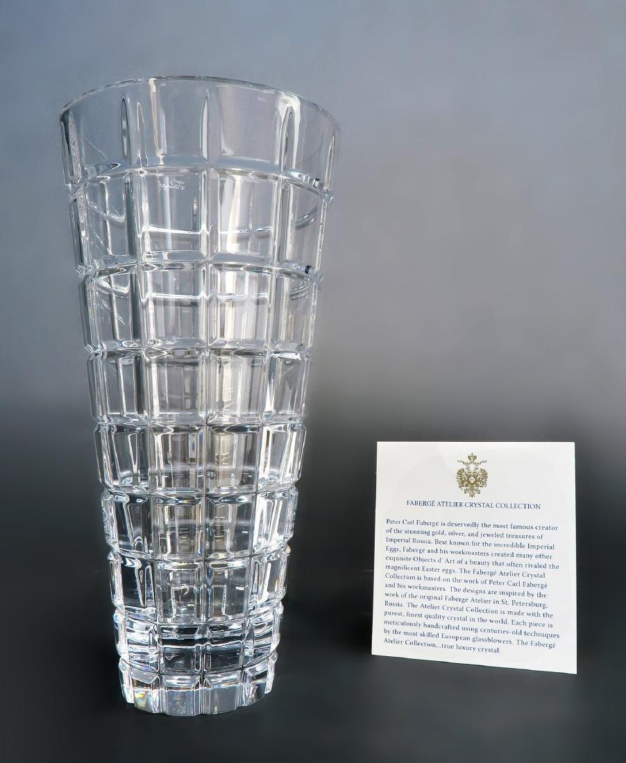 Faberge Metropolitan Clear Flower Crystal Vase