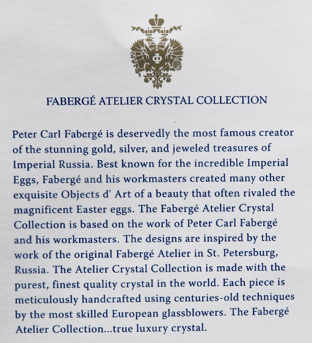Faberge Metropolitan Clear Flower Crystal Vase - 3