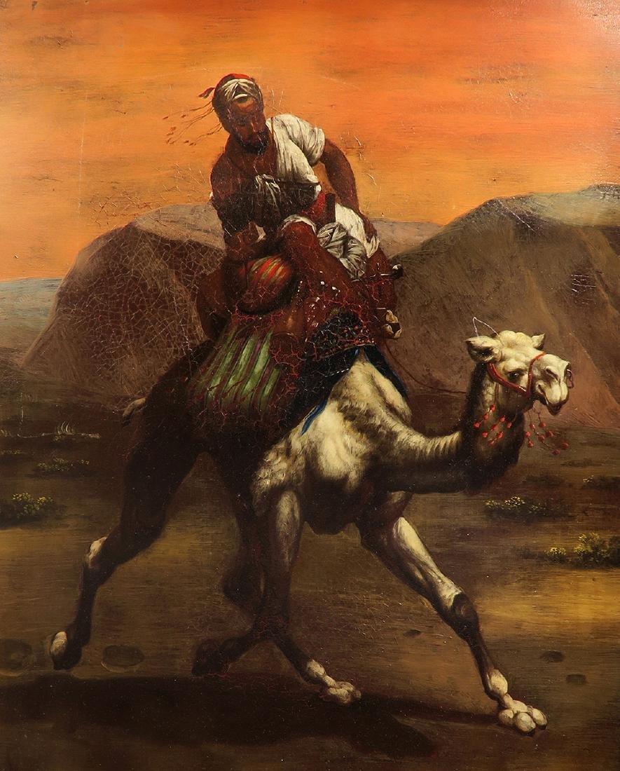 Pair Of 19th C. Orientalist Oil On Copper Paintings - 2